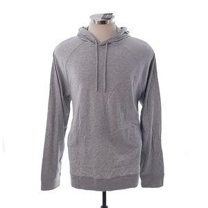 Michael Kors Heather Grey Hooded Long Sleeve Shirt